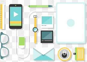 Vector Mobile Phone - Data Download Icon PNG