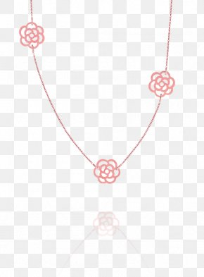 Pink Minimalist Flower Necklace Border Texture - Necklace Pink RGB Color Model PNG