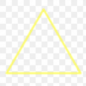 Yellow Triangle - Paper Triangle Area Pattern PNG