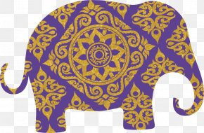 Purple Elephant Pattern - Elephants In Thailand Elephants In Thailand PNG