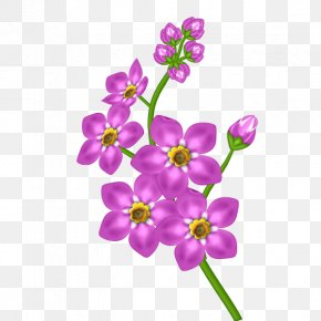 Pink Flower Transparent Clipart - Purple Flower Clip Art PNG