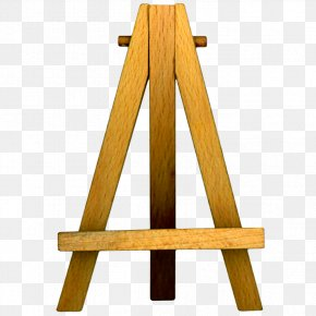 Wooden Background - Easel Art Museum Painting PNG