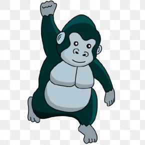 Gorilla - Gorilla Chimpanzee Clip Art PNG