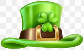 St Patricks Day Hat With Shamrock Transparent PNG Clip Art Image - Saint Patrick's Day Hat Shamrock Irish People Cap PNG