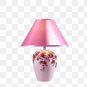 Pink Table Lamp - Table Nightstand Lampe De Bureau Light Fixture PNG