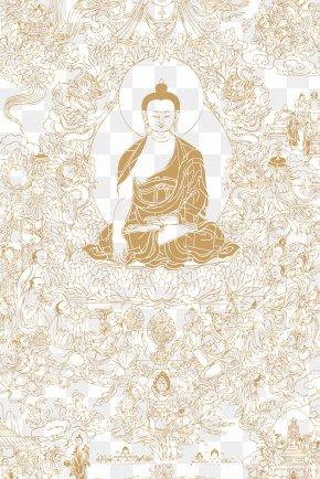 Hand Painted Buddha Illustration - Buddhahood Illustration PNG
