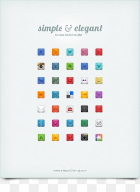 Beautiful & Free Social Media Icons | Elegant Themes Blog - Social Media Blog Website Social Network PNG