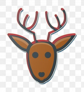 Moose Horn - Animal Icon Christmas Icon Deer Icon PNG