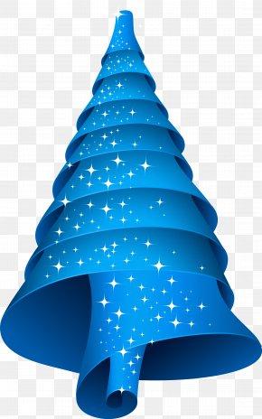 Christmas Tree - Christmas Tree Blue Spiral PNG