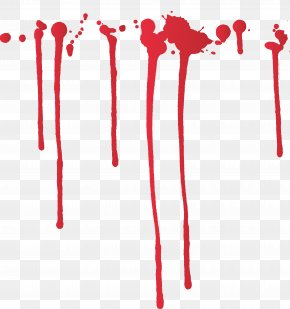 Blood Flowing Over A Large Area - Ink Paint Splatter Film PNG