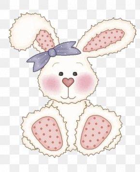 White Rabbit - Easter Bunny Rabbit Infant Clip Art PNG