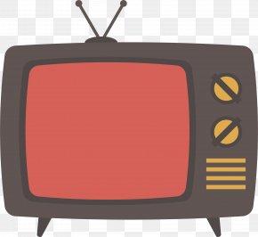 Retro Old Antenna TV Set - Television Set Download PNG