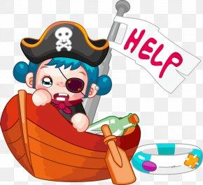 Little Pirate - Piracy Cartoon Ship PNG
