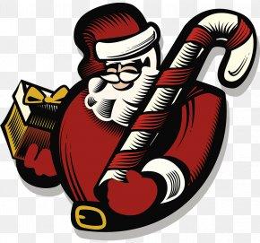 Santa Claus Illustration - Santa Claus Christmas Gift Illustration PNG