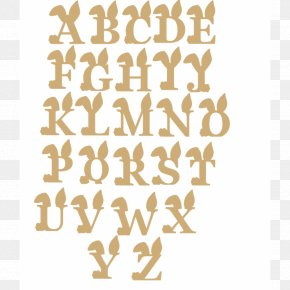 Letter Washington Capitals Easter Bunny Alphabet Font PNG