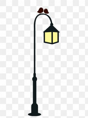 Hand Painted Street Light Poles - Street Light Light Fixture Candelabra Icon PNG