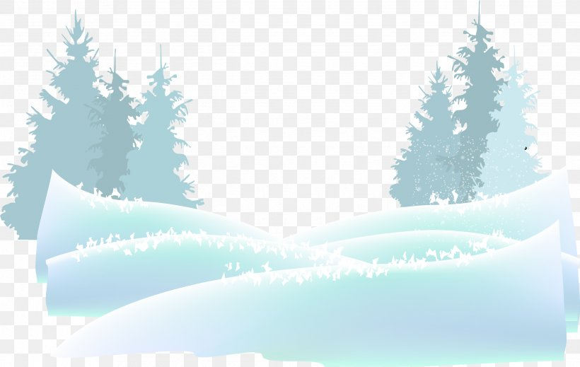 Snow Watercolor Painting Adobe Illustrator, PNG, 2535x1607px, Snow, Blue, Christmas Tree, Fir, Gratis Download Free