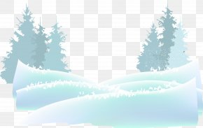 Beautiful Blue Snow - Snow Watercolor Painting Adobe Illustrator PNG