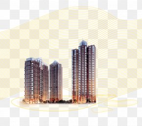 High-rise Summer Flying Lines - Yunfu Building Architectural Engineering Real Property Apartment PNG