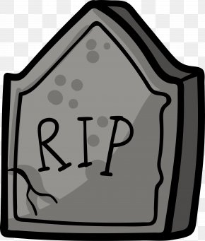 Cartoon Hand Painted Gravestone - Headstone Grave Drawing Tomb PNG