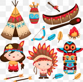 Vector Indiana And Bows - Native Americans In The United States Stock Photography Clip Art PNG