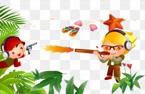 Seaside Summer Camp, Military Training, Cartoon Children - Animation Camping Outdoor Recreation Cartoon PNG