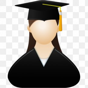 Graduate Cap Female Icon - Graduation Ceremony Woman Clip Art PNG