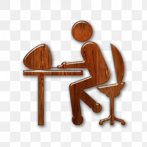 Wood Icon - Tagged Business Student PNG