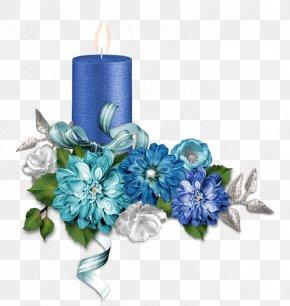 Beautiful Flower Cluster - Cut Flowers Floral Design Blue Flower Bouquet PNG
