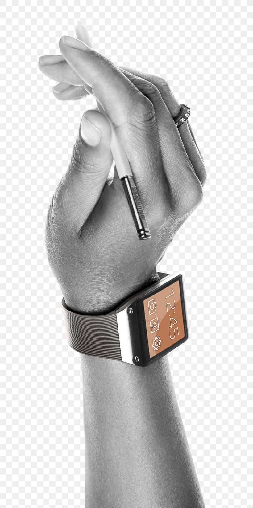 Samsung Galaxy Note 3 Samsung Galaxy Note 10.1 Samsung Galaxy Gear Smartphone Smartwatch, PNG, 2354x4735px, Samsung Galaxy Note 3, Arm, Black And White, Finger, Hand Download Free