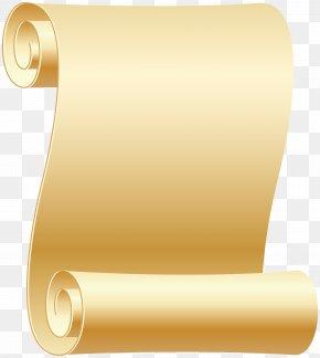 Empty Scroll Transparent Clip Art Image - Paper Scroll Clip Art PNG