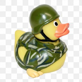 Duck - Rubber Duck Natural Rubber Army Toy PNG