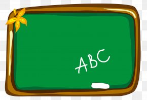 Cartoon Green Chalkboard - Cartoon Blackboard PNG