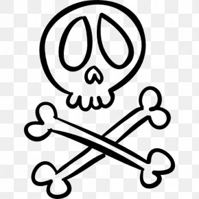 Halloween - Halloween Skull And Crossbones Drawing Clip Art PNG