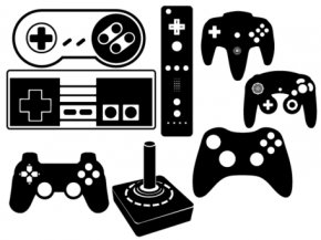Gamer Cliparts - Black Game Controller Video Game Wii Clip Art PNG