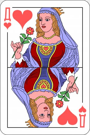 Playing Card - Playing Card Queen Regnant Public Domain Ace Of Hearts PNG