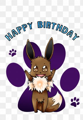 Happy; Vector - Eevee Birthday Cake Happy Birthday To You Domestic Rabbit PNG