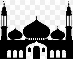 Black Islamic Architecture - Mosque Symbols Of Islam Clip Art PNG