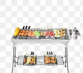 Stainless Steel Grill Barbecue - Barbecue Grill Kebab Chuan Tikka Grilling PNG