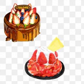 Cream Birthday Cake Hand Painting Material Picture - Birthday Cake Cream Tart Chocolate Cake Torte PNG