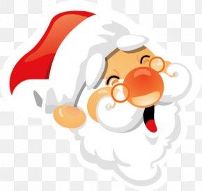 Santa Claus - Santa Claus Nose Clip Art PNG