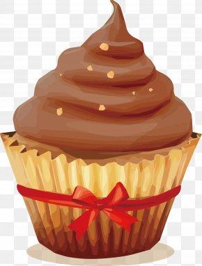 Chocolate Chocolate Cake Vector - Cupcake Chocolate Cake Muffin Cream PNG