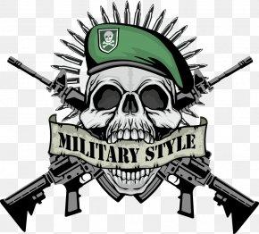 Vector Guns Skull Print - T-shirt Firearm Skull PNG