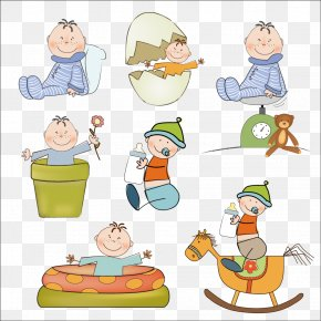 Maternal And Child Cartoon Images - Cartoon Infant Child Clip Art PNG