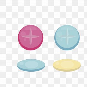 Vector Color Clothing Button - Clothing Button PNG