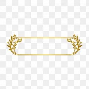 Gold Line Border - Gold Line PNG