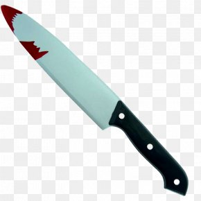 The Blood On The Knife - Kitchen Knife Halloween Weapon Disguise PNG