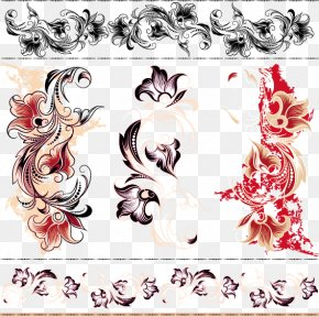 Vintage Floral Design Material - Visual Arts Floral Design Flower Illustration PNG