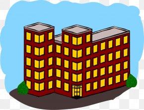 Public Building Cliparts - Apartment House Building Clip Art PNG