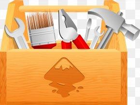 Orange Toolbox - Toolbox Clip Art PNG